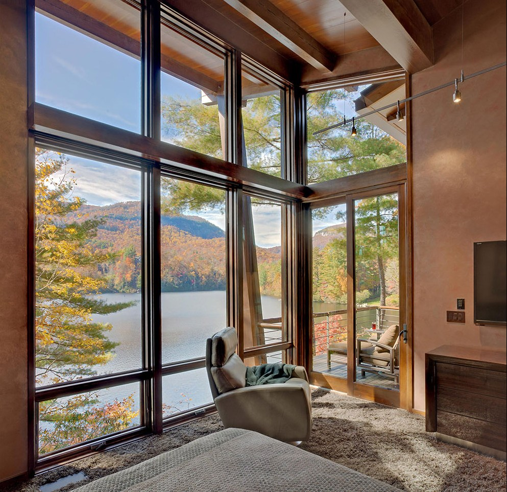 сочные, приятным панорамные окна в коттеджах фото прекрасна, рядом